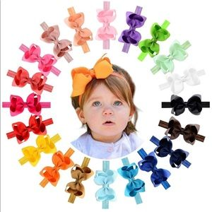 Other - NWT 4.5 in Grosgrain Ribbon Hair Bows Headbands